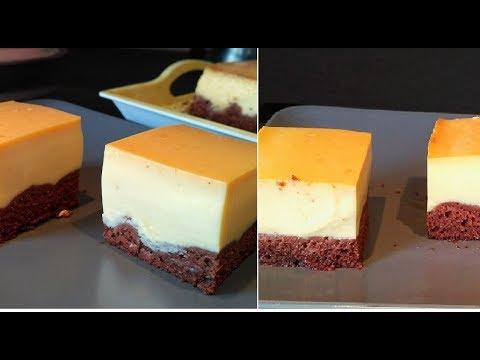 gateau-magique,gâteau-chocolat-et-flan-vanille-caramel-caramel-custard-cake-recipe