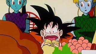 [ENG DUB] Goku Eats Everything In Snake Princess Palace   DBZ  
