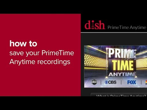 How To Save PrimeTime Anytime Recordings