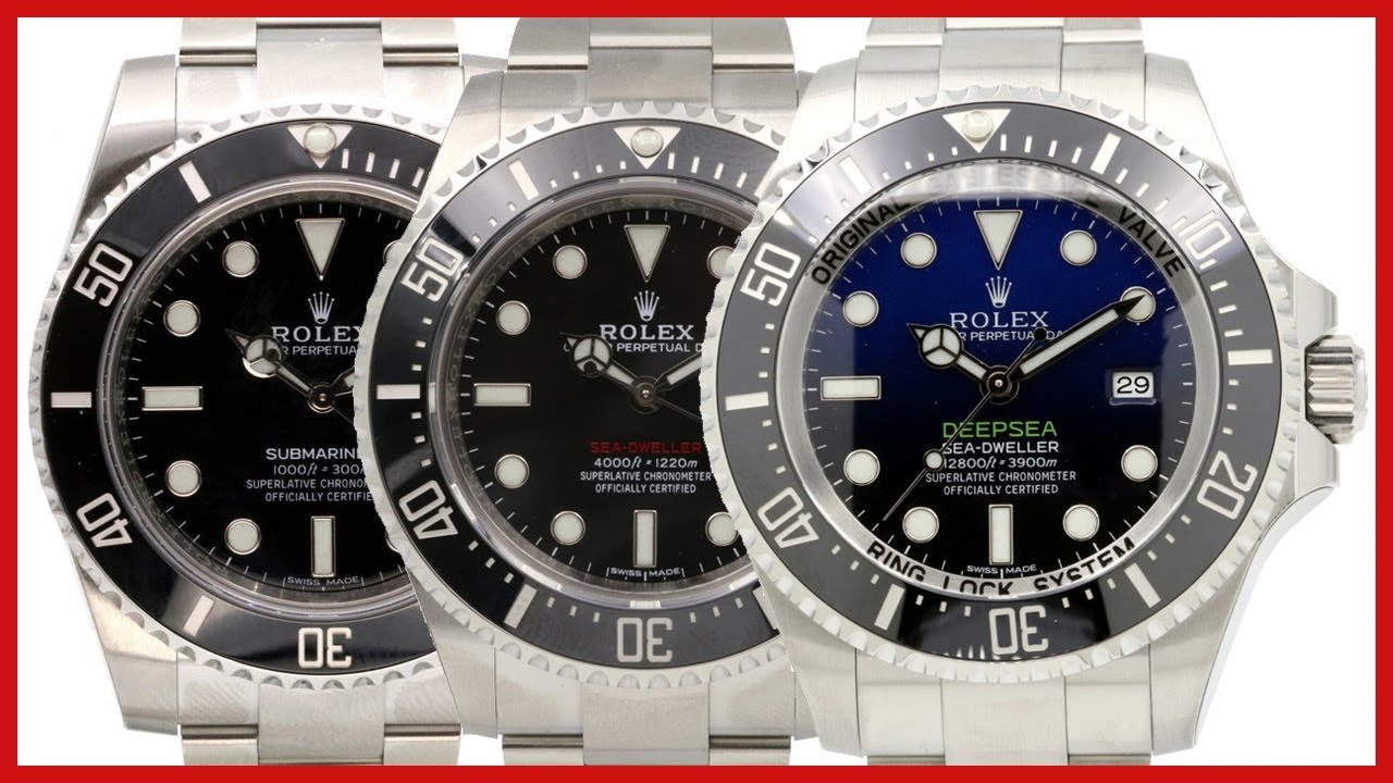 ▶ Rolex SUBMARINER vs SEA,DWELLER vs DEEPSEA D,Blue , COMPARISON