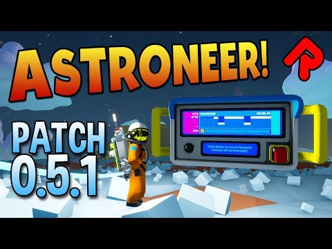 January update adds Multi-Phase Research Rates! | Let's play Astroneer patch 0.5.1