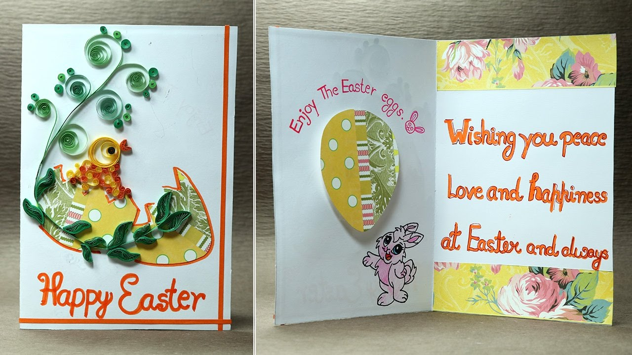 Handmade Easter Greeting Card Quilling Card For Easter Youtube