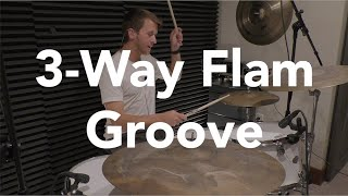 3-Way Flam Groove  |  SlyHatLessons.com