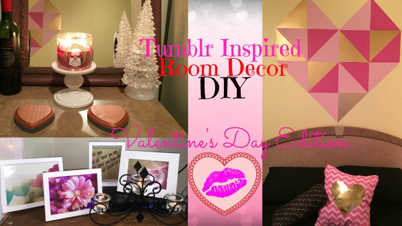 Tumblr inspired room decor diy valentine 39 s edition youtube for Valentines room decor
