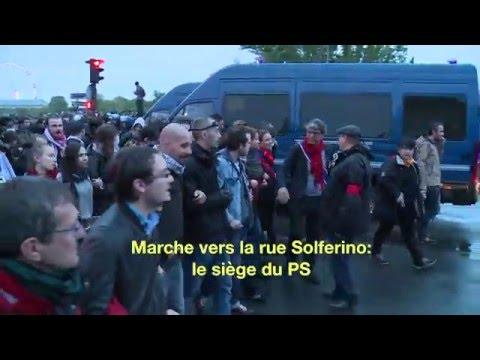 Paris 10 mai: Manif Assemblée nationale