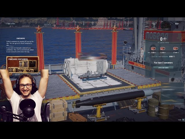 Premium containers opening!! - World of Warships