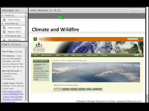 Webinar on fire and climate change
