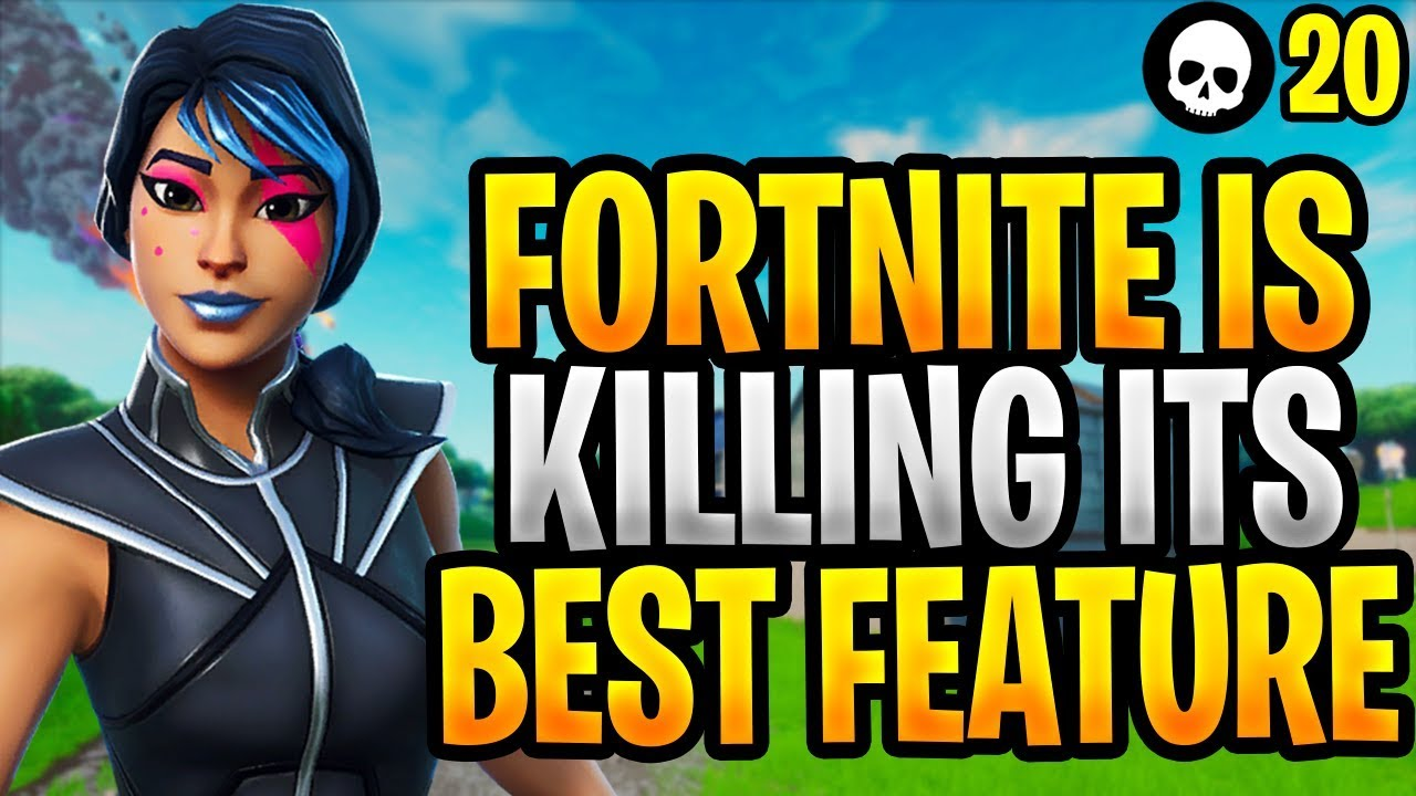 Fortnite ZERSTÖRT sein bestes Feature ... Hier ist, warum! (Fortnite Season X) + video