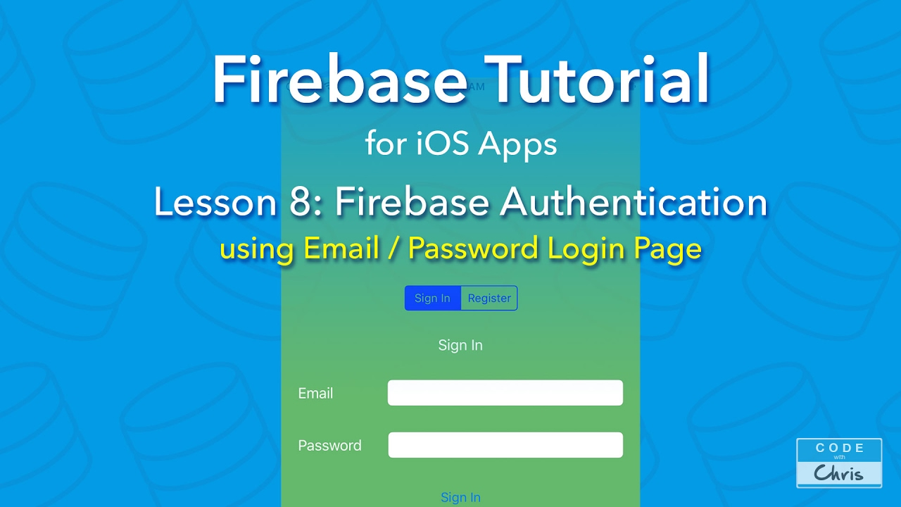 Firebase Tutorial for iOS - Ep 8 - Authentication using an Email Login Page