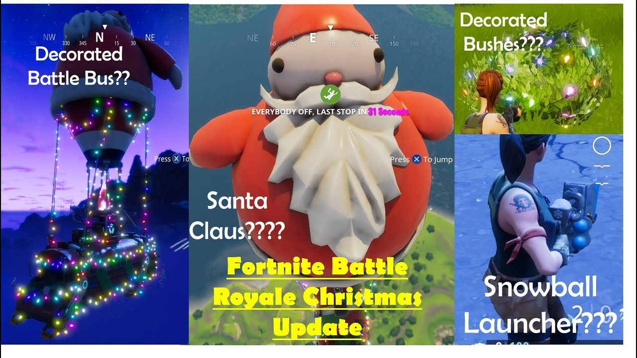 Fortnite Battle Royale Christmas Update Snowball Launcher Kills