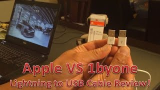 Apple VS 1byone iPhone 6 Lightning to USB Cable Review