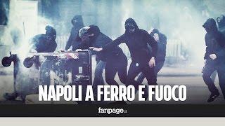 Scontri a Napoli per la visita di Salvini: Fuorigrotta devastata