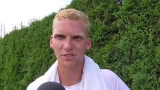 Patrik Malý po výhře ve 2. kole kvalifikace na turnaji Futures v Pardubicích