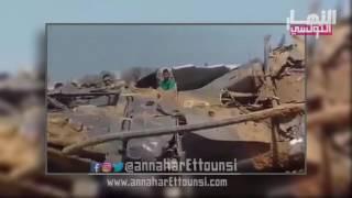 فيديو حصري لسقوط مروحية تابعة للجيش بمنطقة طينة بصفاقس
