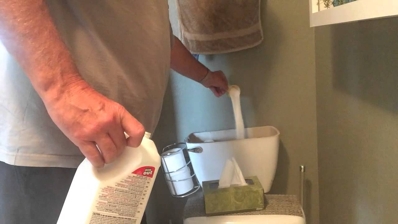 rust out of toilet tank - YouTube