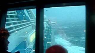 Heavy Seas on Diamond Princess Cruise Ship