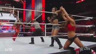 Brie Bella w/ Nikki vs. AJ Lee RAW 11/24/2014