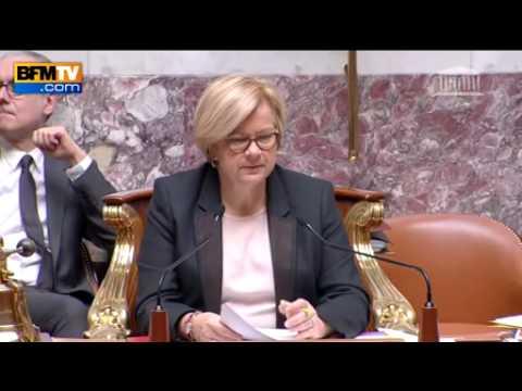 Valérie Boyer prise d'un fou rire à l'Assemblée nationale