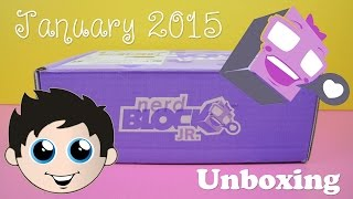 Nerd Block Jr Girls Edition January 2015 Mystery Box Unboxing!