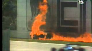 Accidente Gerhard Berger GP Imola 1989 Formula 1 TVE