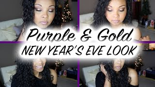 Purple And Gold Nye Look | Collab With Laurie Jolicoeur