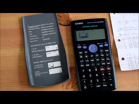 Casio marka fx82 es model bilimsel hesap makinesi ile standart sapma hesaplama from YouTube · Duration:  4 minutes 25 seconds