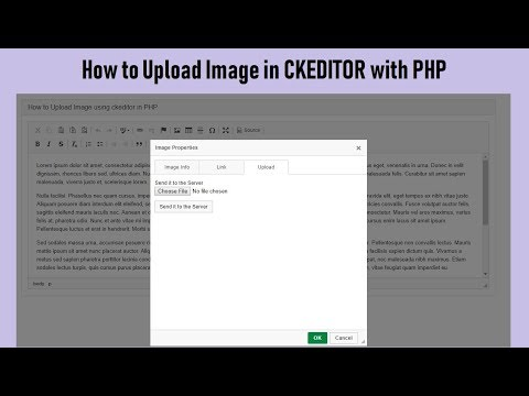 How to Upload Image in CKEDITOR with PHP