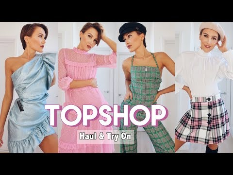 TOPSHOP HAUL & TRY ON SPRING CLOTHING & SHOES | Blaise Dyer