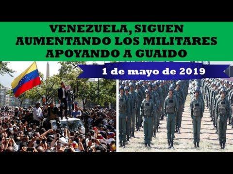 VENEZUELA, SUMAN Y SIGUEN MILITARES UNIENDOSE A GUAIDO