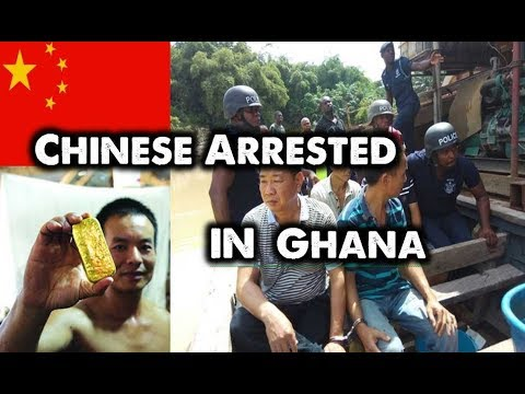Chinese Illegal Mining in Ghana Police and Military Raid