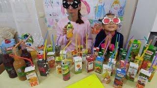 Meyve suyu challenge , eğlenceli çocuk videosu