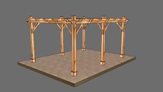 Cedar Pergola Assembly Video - 6 Posts - by OLT