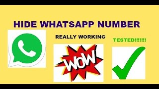 how to hide whatsapp numberHindi : Tested trick really working