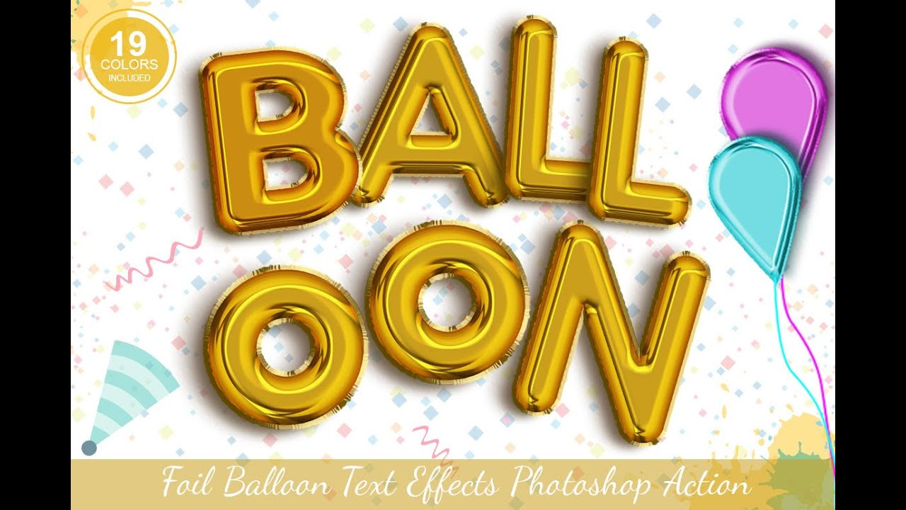 Foil Balloon Text Effect Photoshop Action