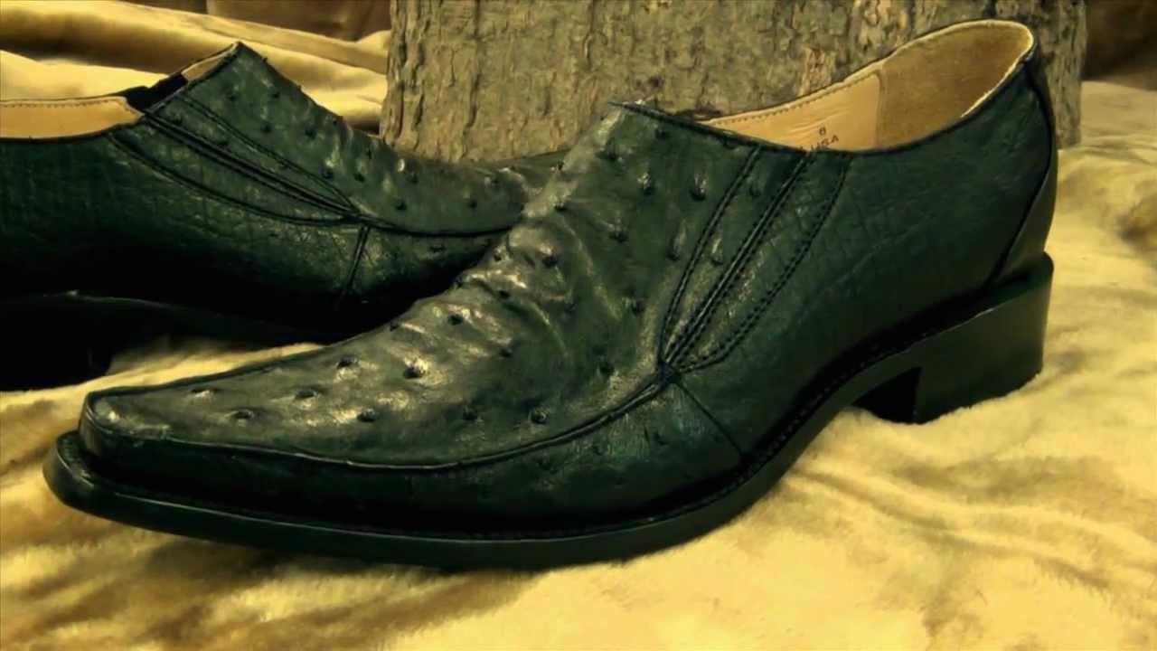 Zapatos De Vestir De Avestruz El Vaquero Imports Youtube