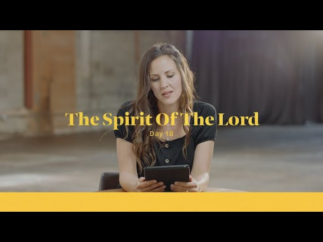 The Spirit Of The Lord Has Anointed Me