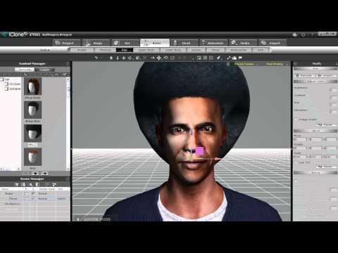 iClone5 Quick Fix Tutorial - Facial and Body Customization