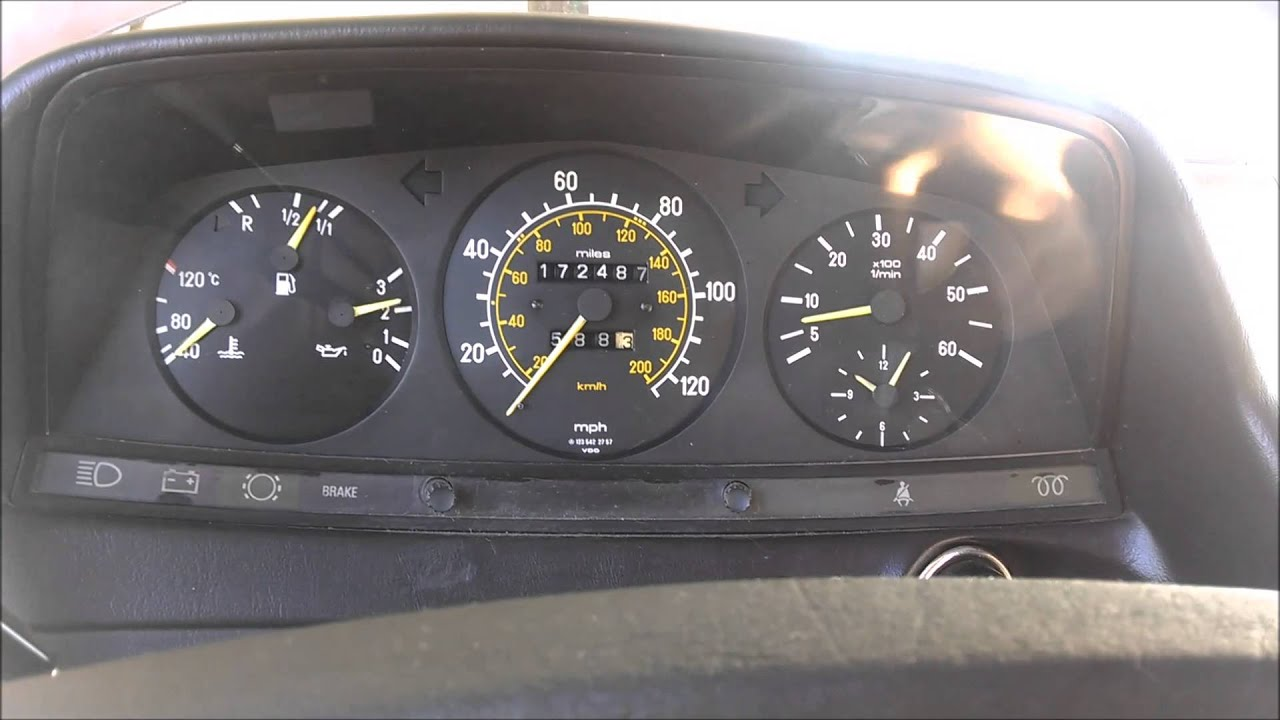 Successful Tachometer Repair W123 1985 300d