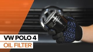 Replacing Oil Filter on VW POLO: workshop manual