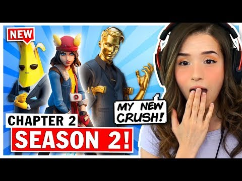 Pokimane Reacts to NEW Fortnite Chapter 2 Season 2 + Battle Pass!