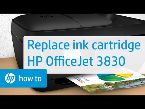 Replace The Ink Cartridge | HP OfficeJet 3830 Printer | HP