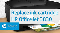 How to Replace an Ink Cartridge in the HP OfficeJet 3830 Printer | HP OfficeJet | HP