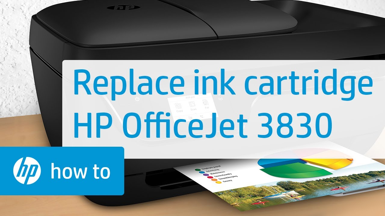 How To Replace An Ink Cartridge In The Hp Officejet 3830
