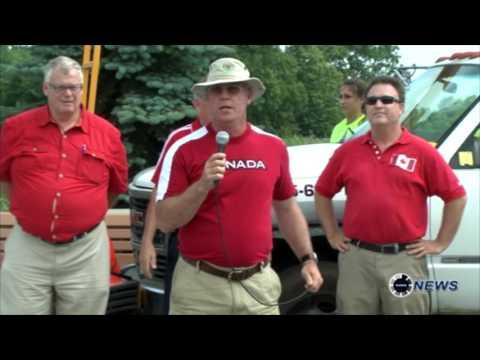 Canada Day 2014 large flag flown - by Dale Elliott EON news