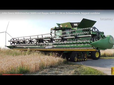 John Deere Mähdrescher S685i -12,34m Schneidwerk-biggest combine harvester- Weizen dreschen / mähen