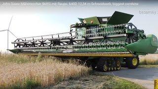 John Deere Mähdrescher S685i - 12,34 m Schneidwerk - biggest combine - Weizen dreschen / mähen