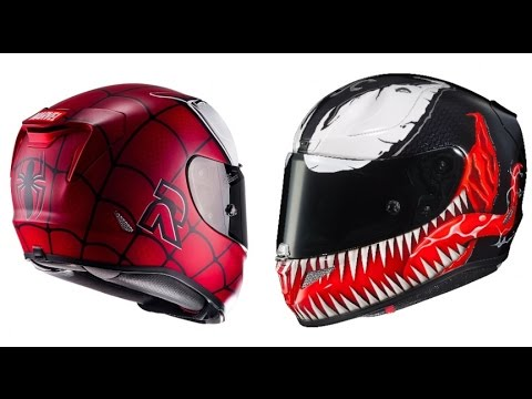 hjc rpha 11 spiderman venom graphic youtube. Black Bedroom Furniture Sets. Home Design Ideas