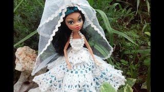 Монстер Хай - невеста. Свадебное платье. Wedding doll dress