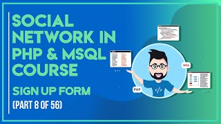 Social Network with PHP in Urdu/Hindi part 8 sign up form.