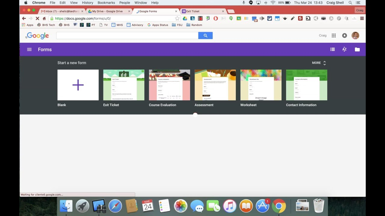 using google form templates youtube